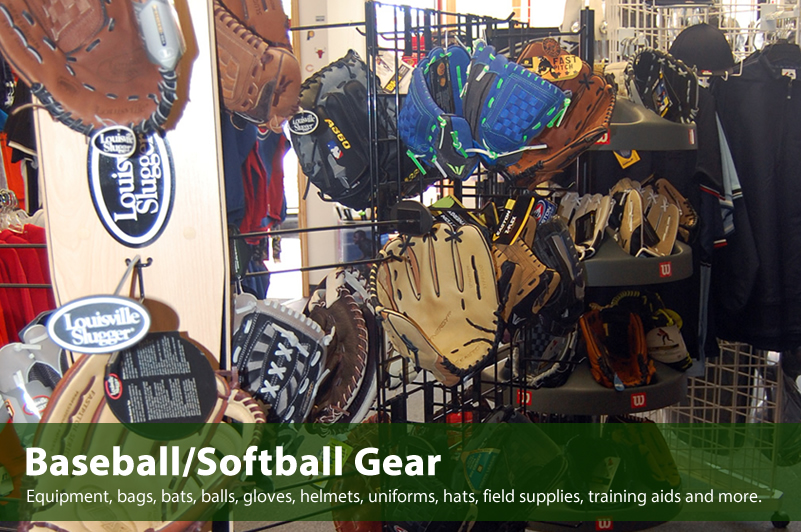 Baseball and Softball gear available at Varsity Sports