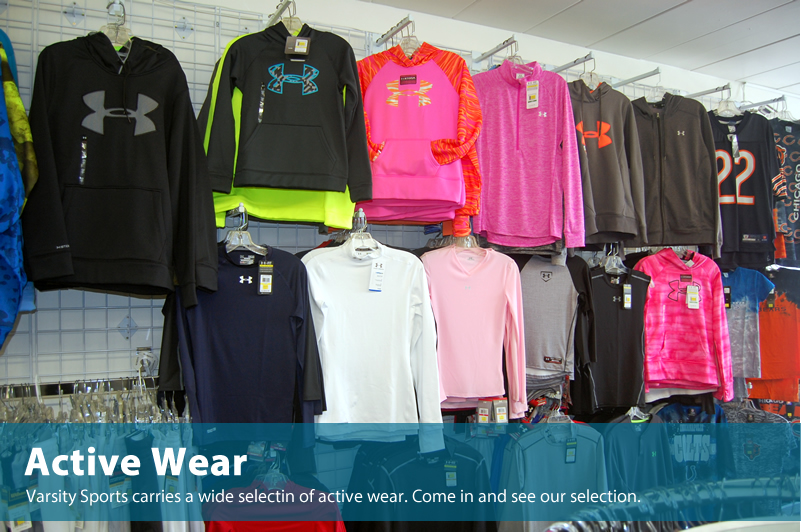 Active wear at Varsity Sports