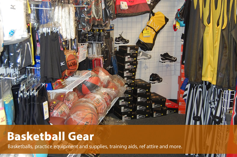 Large selection of Basketball gear