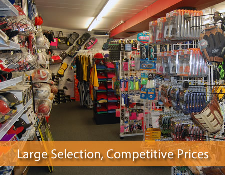 Large in store selection