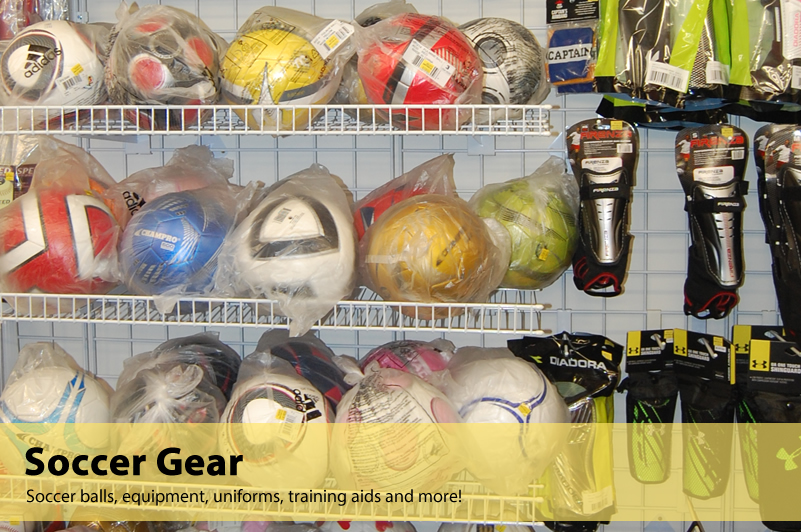 Soccer equipment available at Varsity Sports