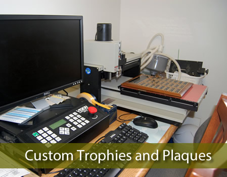 Custom trophies and plaques.